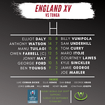 Cooch's England XV vs Tonga   Rugby World Cup 2019™