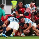 CHOFU, JAPAN - OCTOBER 05: Luke Cowan-Dickie of England scores his side's sixth try during the Rugby World Cup 2019 Group C game between England and Argentina at Tokyo Stadium on October 05, 2019 in Chofu, Tokyo, Japan. (Photo by Clive Rose - World Rugby/World Rugby via Getty Images)