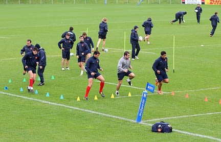 France IRB RWC 2011 Training Session