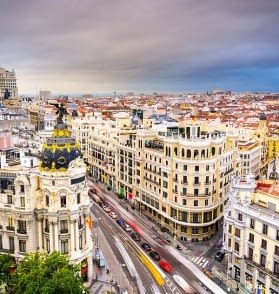 Madrid Spain Cityscape