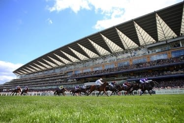 ASCOT, ENGLAND - JUNE 22: The runners and riders in the Jersey Stakes on day five of Royal Ascot at Ascot Racecourse on June 22, 2019 in Ascot, England. (Photo by Bryn Lennon/Getty Images for Ascot Racecourse)
